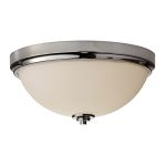 Elstead Malibu Flush Polished Chrome Ceiling Light