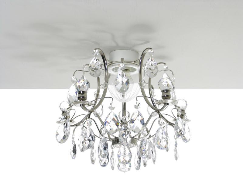 Pompe 203 crystal bathroom chandelier nickel finish - Bathroom crystal chandelier ...