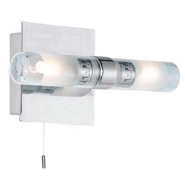 Double Wall Lights Chrome : Endon Shore 446 chrome double bathroom wall lightglass/chrome bathroom light, Bathroom Lighting ...