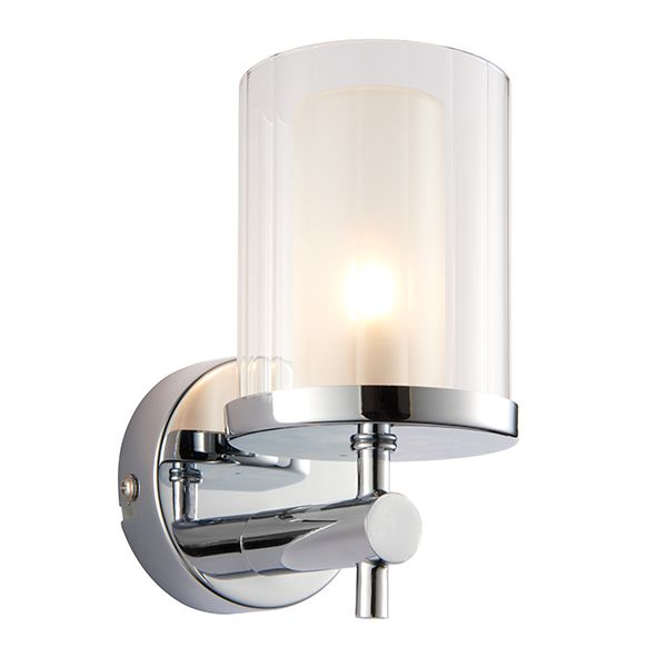bathroom lighting centre endon britton wall light 51885 bathroom wall light glass 10892