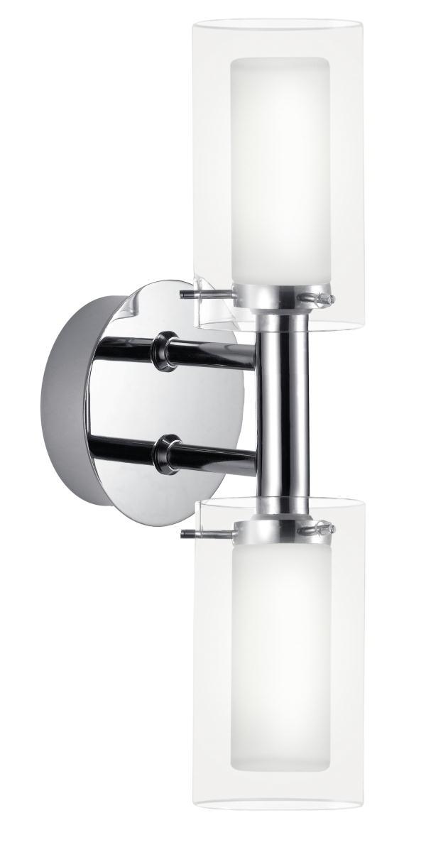 Twin Glass Wall Lights : Eglo Twin glass and chrome bathroom wall light Eglo Palermo twin glass 88194 wa, Bathroom ...