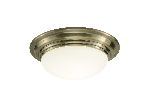 Dar Barclay Antique Brass Small Ceiling Light