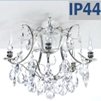 Pompe 201 Barock Bathroom Chandelier Nickel Finish