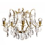 Krebs Baroque 5 Polished  Brass Almond Ball Chandelier