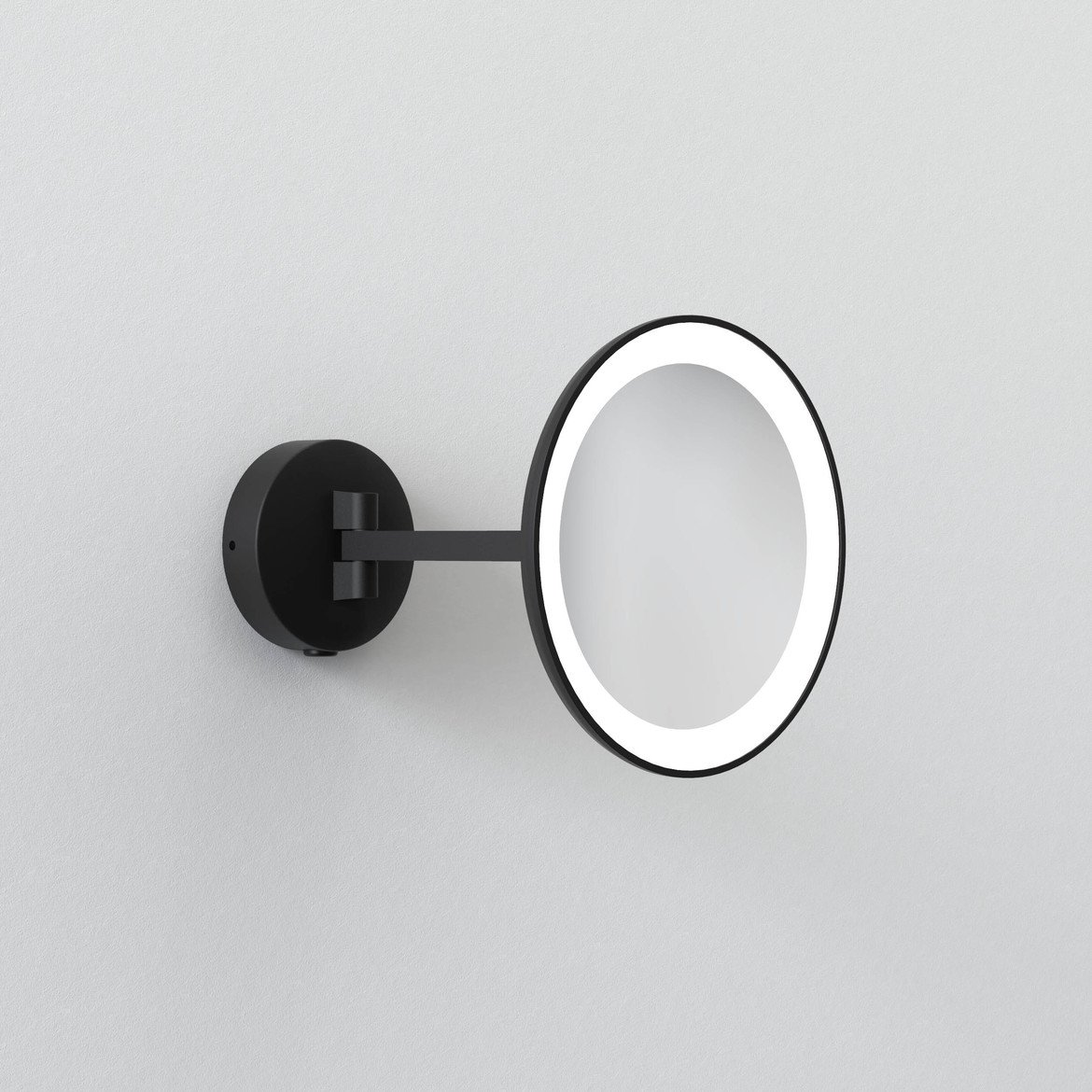 Astro Lighting 1373011 Mascali Round Black LED Vanity Mirror