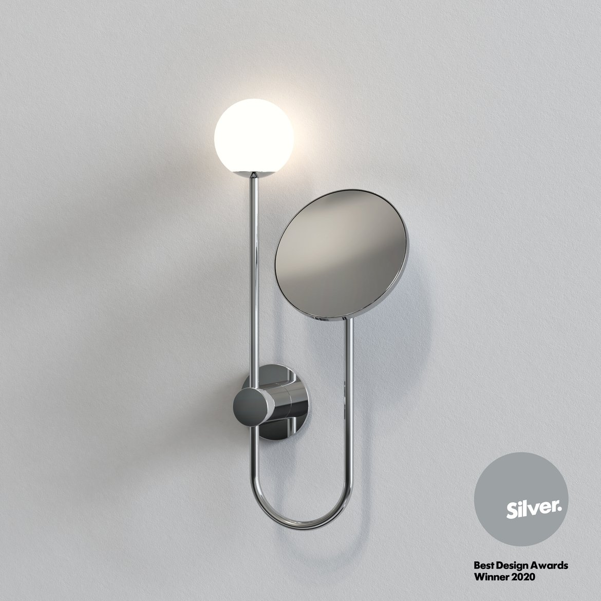 Astro Lighting 1424001 Orb Polished Chrome Plus Mirror