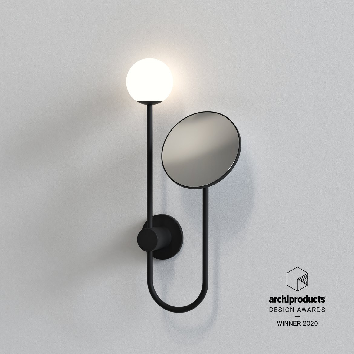 Astro Lighting 1424003 Orb Matt Black Plus Mirror