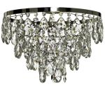 Krebs Plafond Nickel Finsh Octagon Crystal Bathroom Chandelier