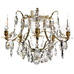 Pompe 201 beautiful Baroque Brass Chandelier