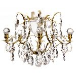 Krebs Elegant Baroque Brass Chandelier