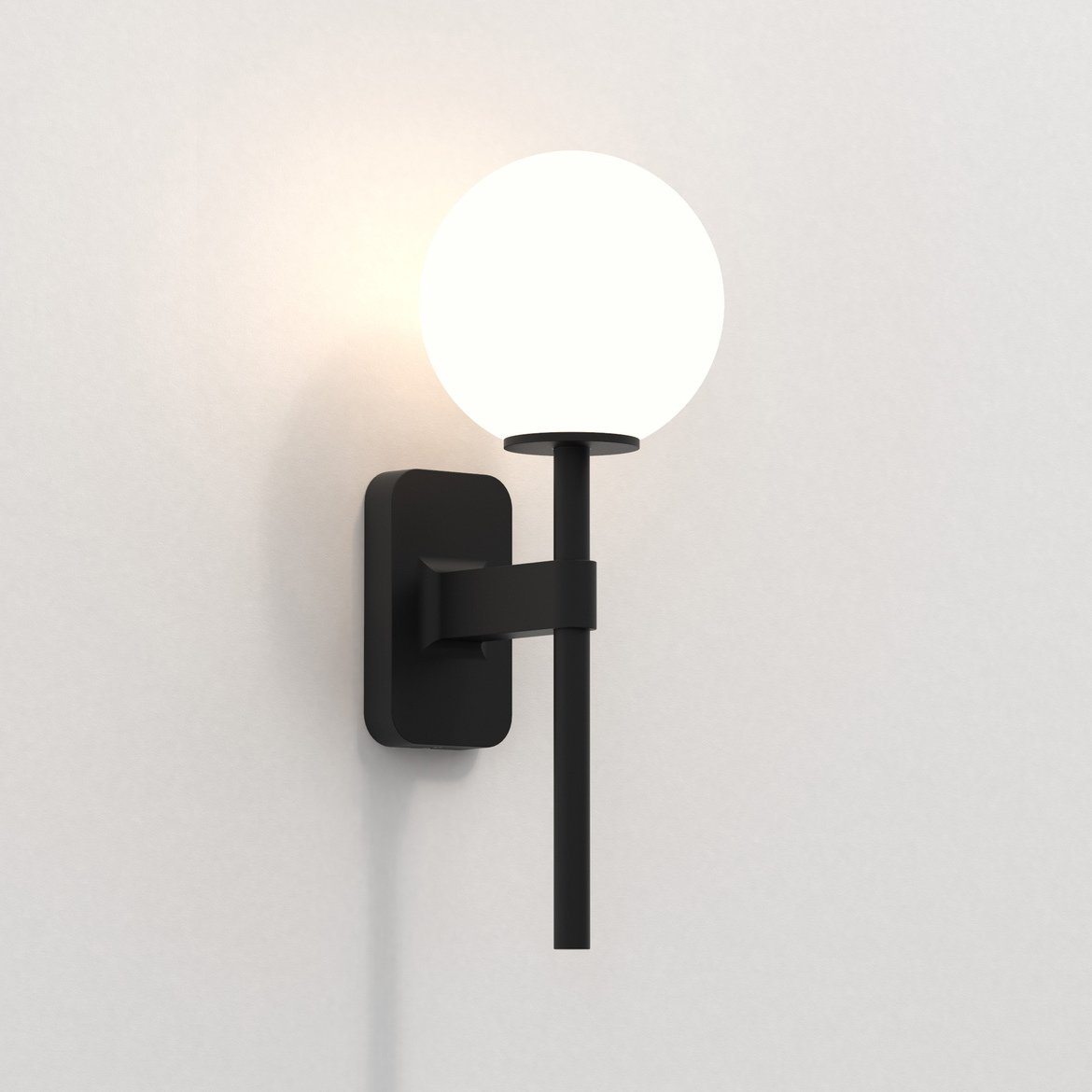 Astro Lighting 1429004 Tacoma Single Black With White Shade