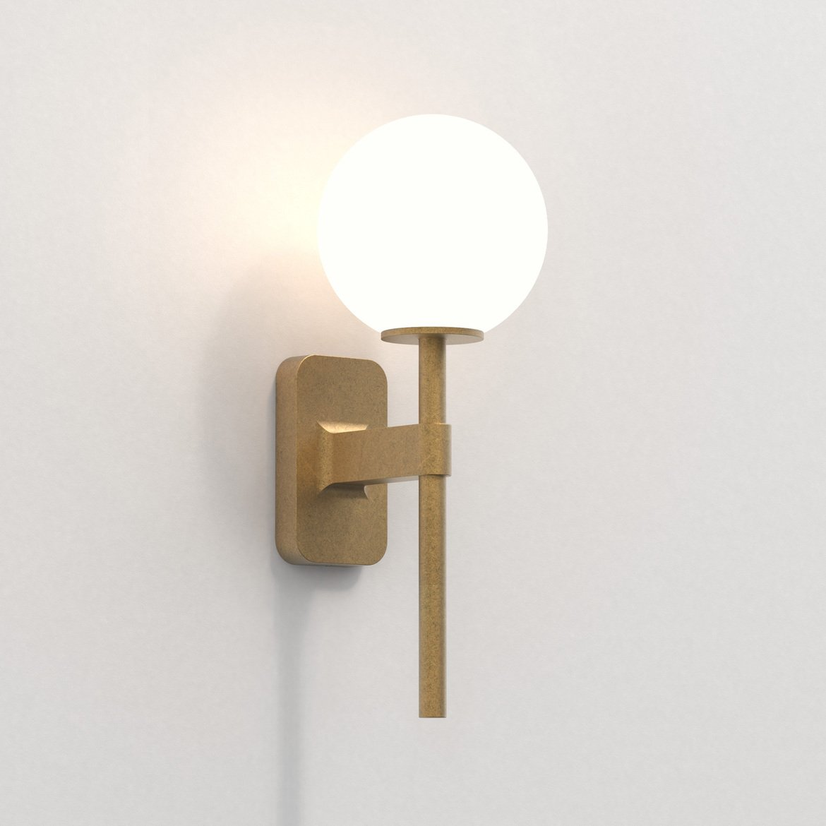 Astro Lighting 1429007 Tacoma Single Antique Brass Wall Light