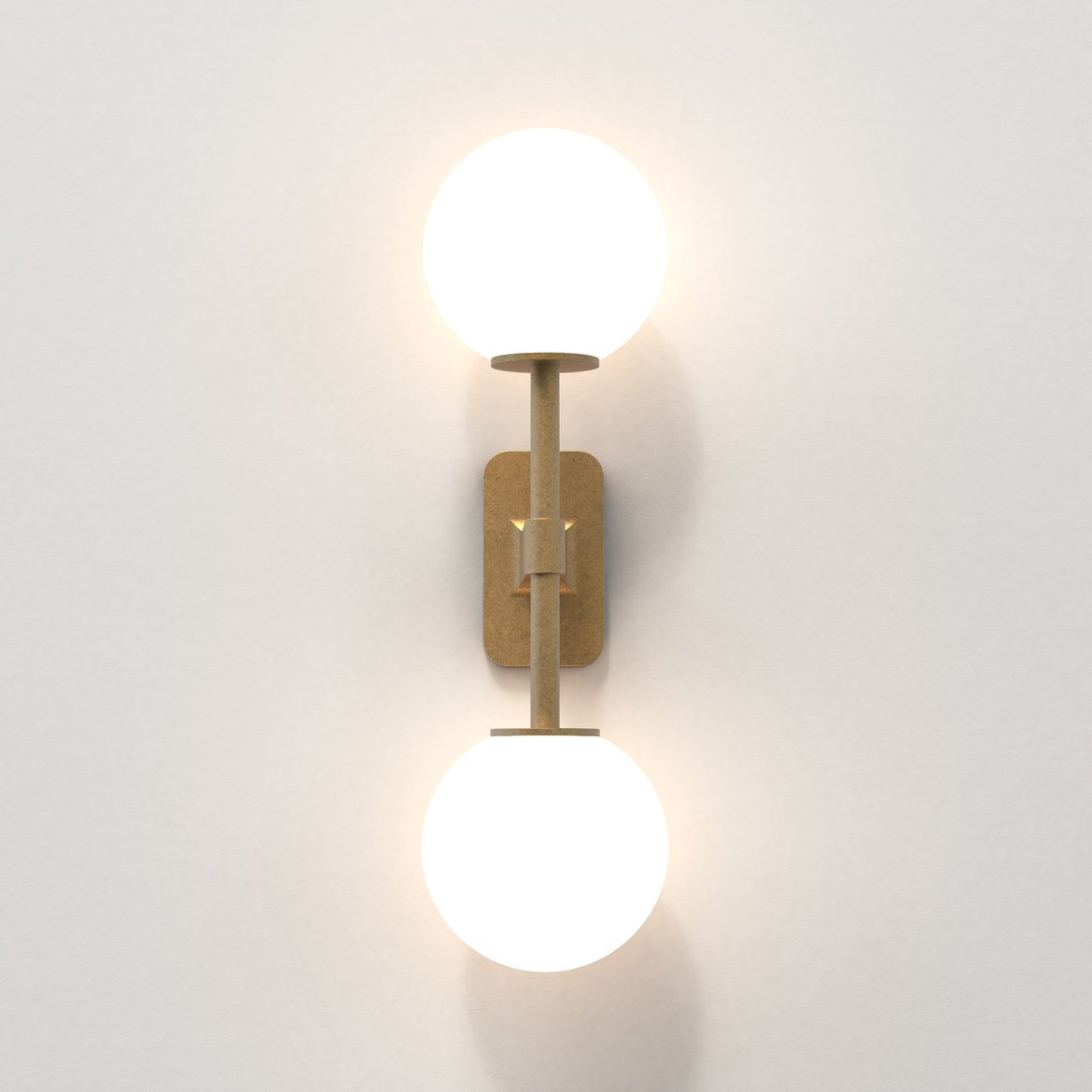Astro Lighting 1429008 Tacoma Twin Brass Wall Light