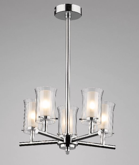 Dar elba 5 light chandelier6601