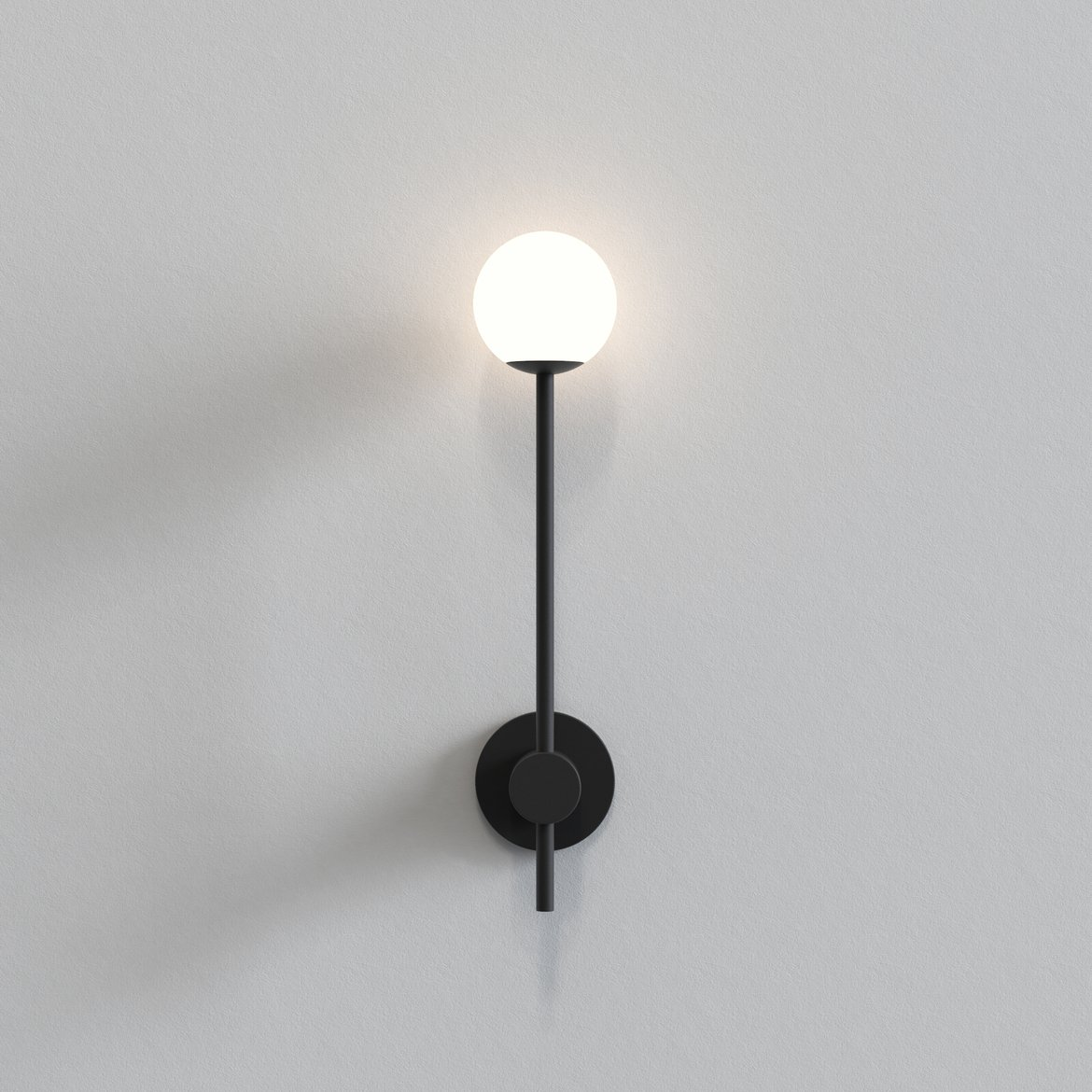 Astro Lighting 1424004 Orb Single Matt Black Wall Light
